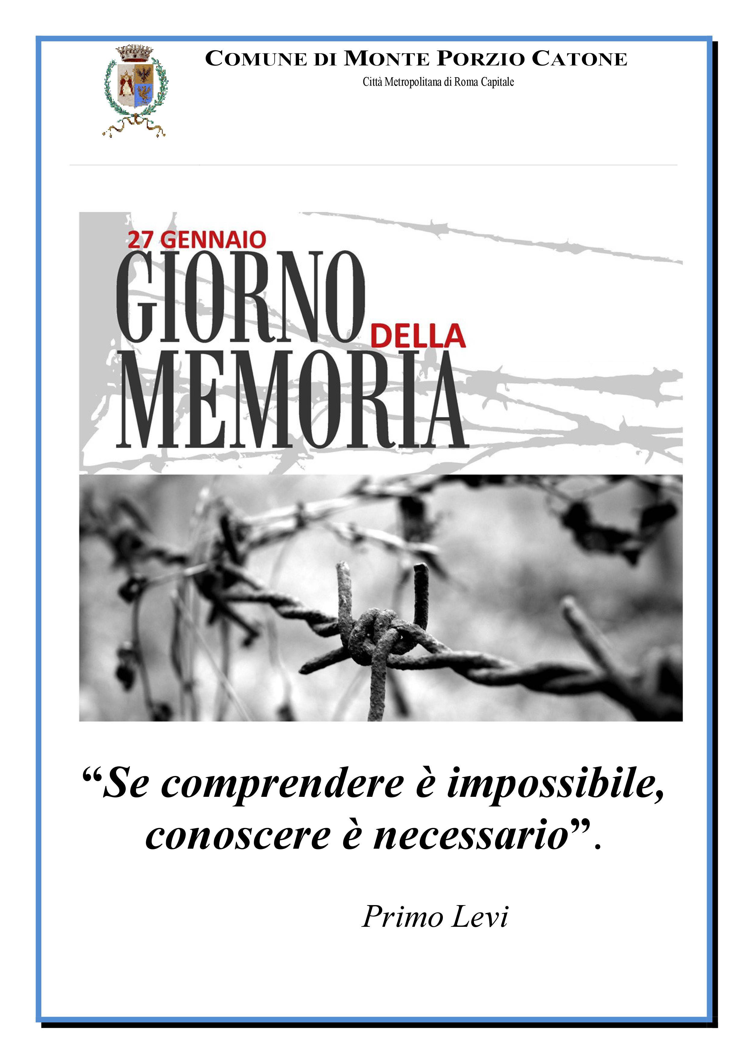 Giorno della Memoria - 27 Gennaio 2019